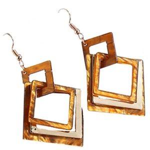 Just in! 🆕 Brown Geometric Resin Earrings